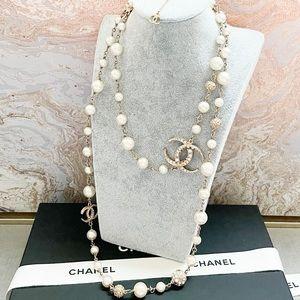 Chanel Paris-Dubai Half Moon CC Pearl LongNecklace